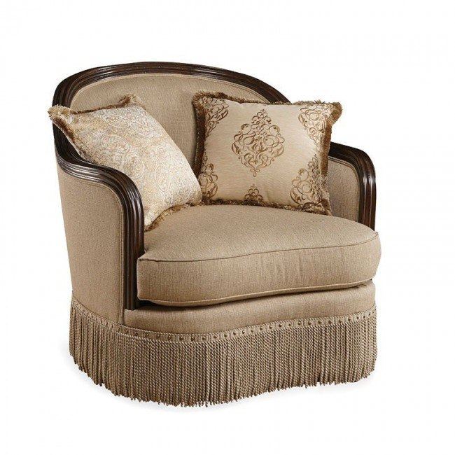 Giovanna Golden Quartz Accent Chair