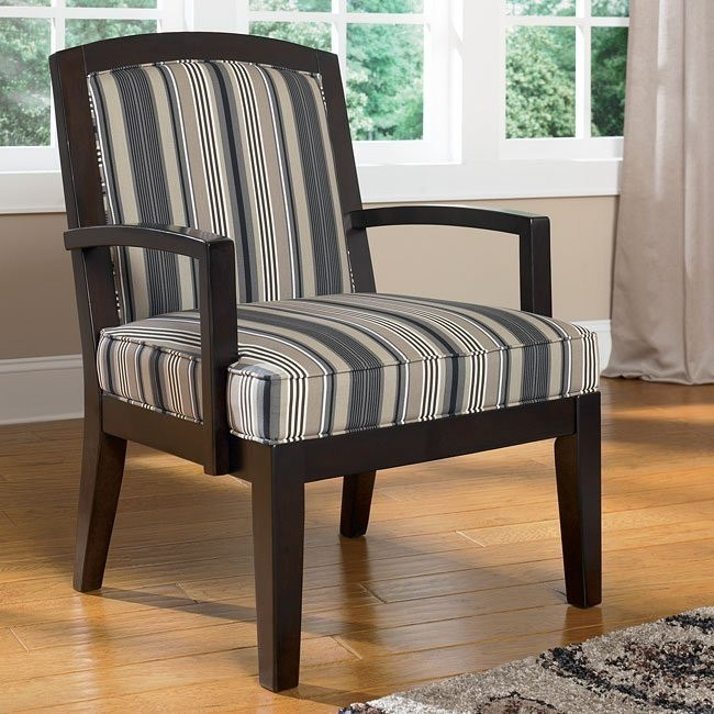 Yvette - Steel Showood Accent Chair