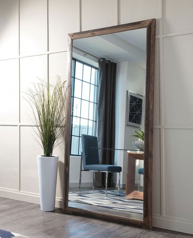 Rustic Mirror w/ Wood Frame