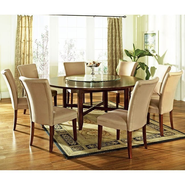 Round Formal Dining Room Tables: Avenue Round Dining Room Set W/ 72 Inch Table Steve Silver