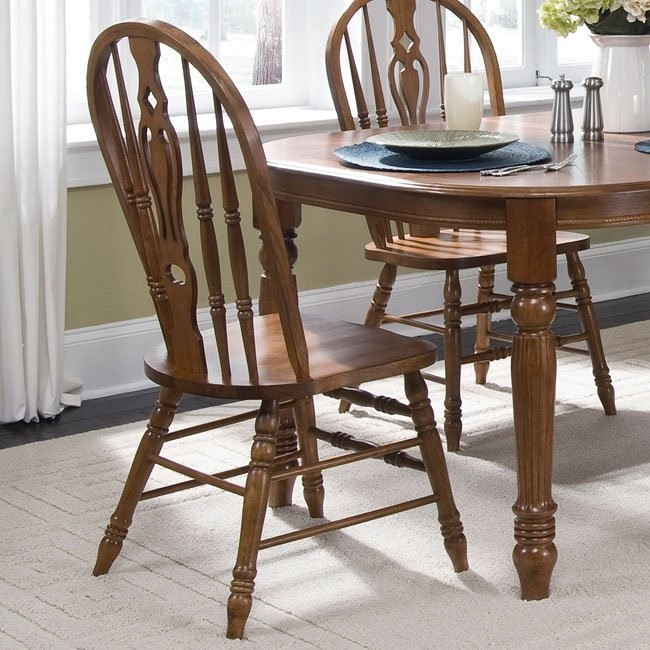 Old World Windsor Side Chair (Set Of 2) Liberty Furniture | Furniture Cart