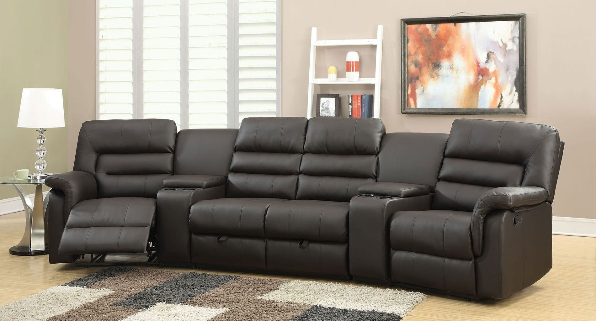 Nicholas Reclining Home Theater Sectional Acme Furniture