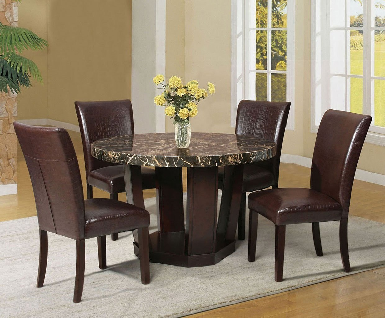 Adolph Round Dining Room Set W/ Fraser Chairs Acme Furniture | Furniture  Cart