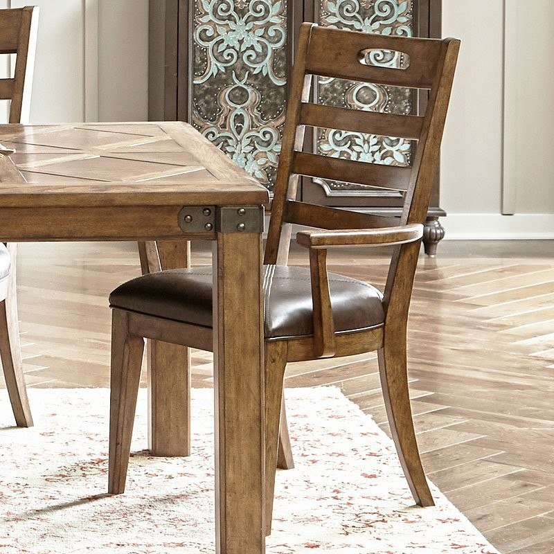 Heartland Falls Ladder Back Arm Chair Set Of 2 By Pulaski Furniture Dining Room W Chairs