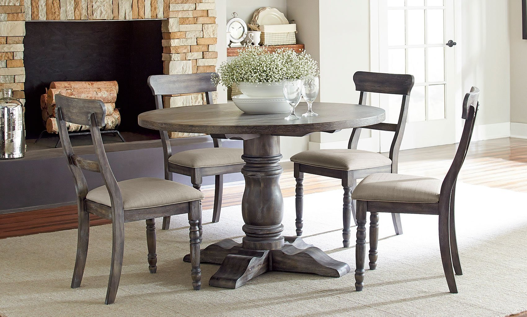 Muses Round Dining Room Set W/ Ladderback Chairs Progressive Furniture |  Furniture Cart Part 57