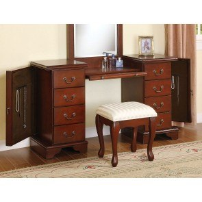 Louis Philippe Vanity Desk w/ Stool