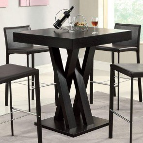 Crisscross Square Bar Table
