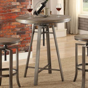 Industrial Adjustable Bar Table