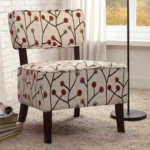 Orson Multi-Color Poppies Accent Chair