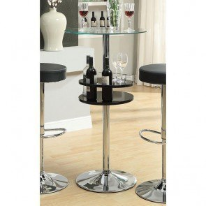 Black Bar Table w/ Wine Storage