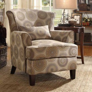 Nicolo Accent Chair w/ Kidney Pillow