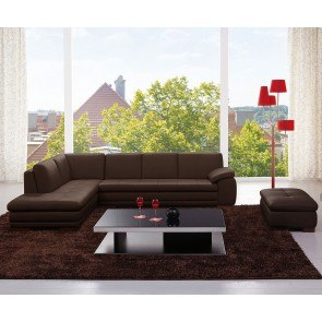 625 Leather Sectional Set (Brown)