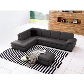 625 Leather Sectional Set (Grey)
