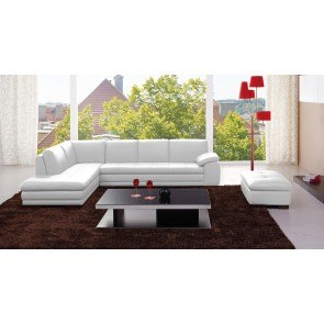 625 Leather Sectional Set (White)