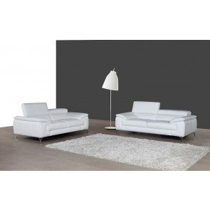 A973 Leather Living Room Set (White)