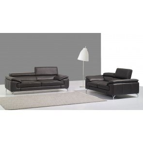 A973 Leather Living Room Set (Grey)