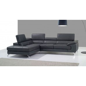 A973 Leather Left Chaise Sectional