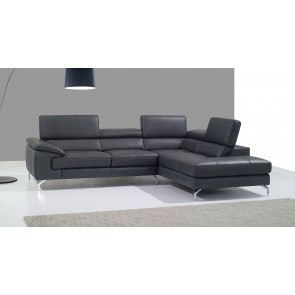 A973 Leather Right Chaise Sectional