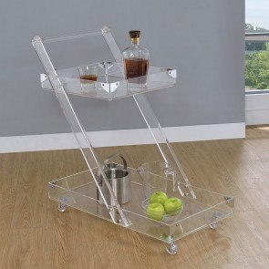 Clear Acrylic Serving Cart