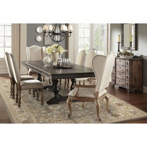 Accentrics Home Montserrat Dining Set w/ Amethea Dione Chairs