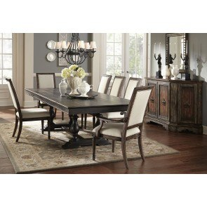 Accentrics Home Montserrat Dining Set w/ Nimes Chairs