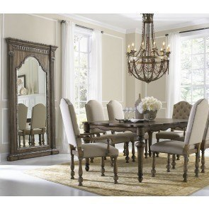 Accentrics Home Lucia Dining Set w/ Amethea Dione Chairs