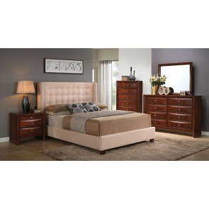 Ireland Bedroom Set w/ Mallalai Upholstered Bed