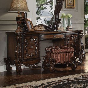 Versailles Vanity Desk (Cherry Oak)