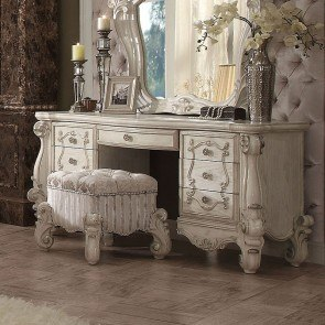 Versailles Vanity Desk (Bone White)