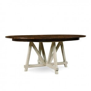 Echo Park Round Dining Table (Hustons Arroyo/Aged Canvas)