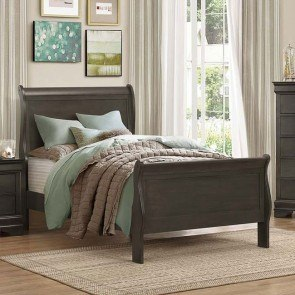 Mayville Youth Sleigh Bed (Stained Grey)