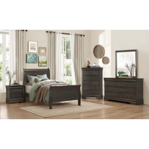 Mayville Youth Sleigh Bedroom Set (Stained Grey)