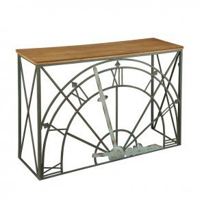Clock Dial Console w/ Wood Top