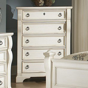 Heirloom Five Drawer Chest (White)