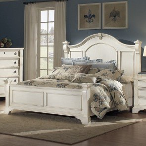 Heirloom Low Post Bed (White)