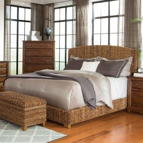 Laughton Upholstered Bed (Natural Brown)