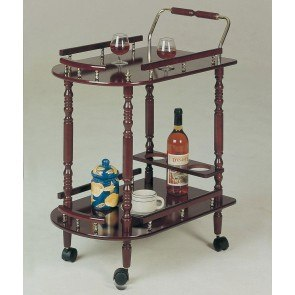 Serving Cart w/ Brass Accents