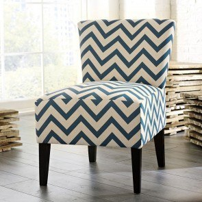 Ravity Accent Chair (Blue Chevron)