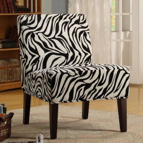 Lifestyle Armless Lounge Chair (Zebra)