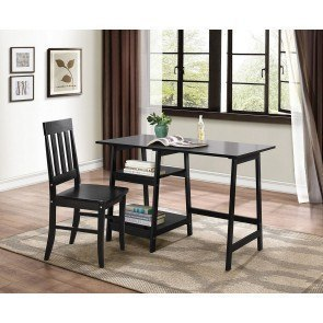 Daily Writing Desk and Chair (Black)
