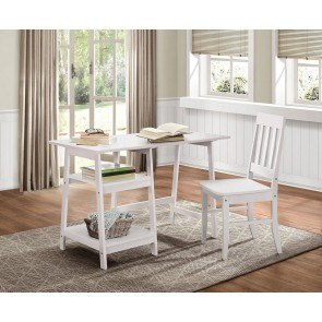 Daily Writing Desk and Chair (White)