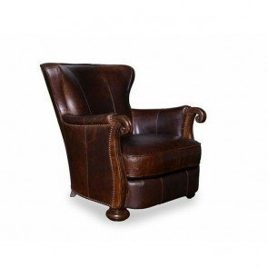 Kennedy Walnut Leather Lounge Chair