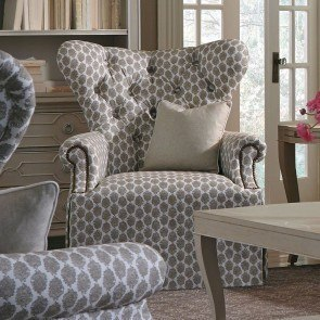 Ava Grey Wing Chair