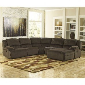 Toletta Chocolate Reclining Power Sectional
