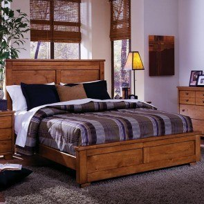 Diego Panel Bed (Cinnamon Pine)