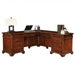 Weathered Cherry L-Shape Desk
