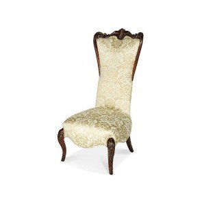 Imperial Court High Back Wood Trim Chair (Champagne)