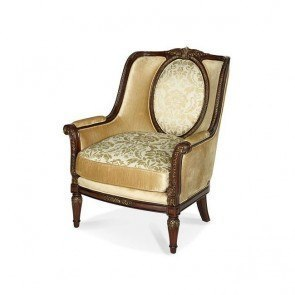 Imperial Court Wood Trim Chair (Champagne)