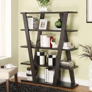 Bookshelf w/ Inverted Supports and Open Shelves
