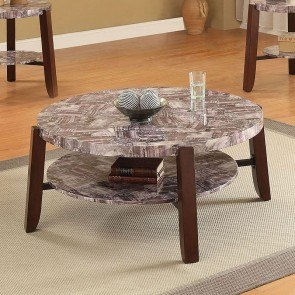 Lilith Coffee Table (Light Faux Marble)